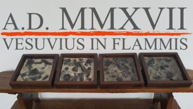Photo of A.D. MMXVII Vesuvius in flammis
